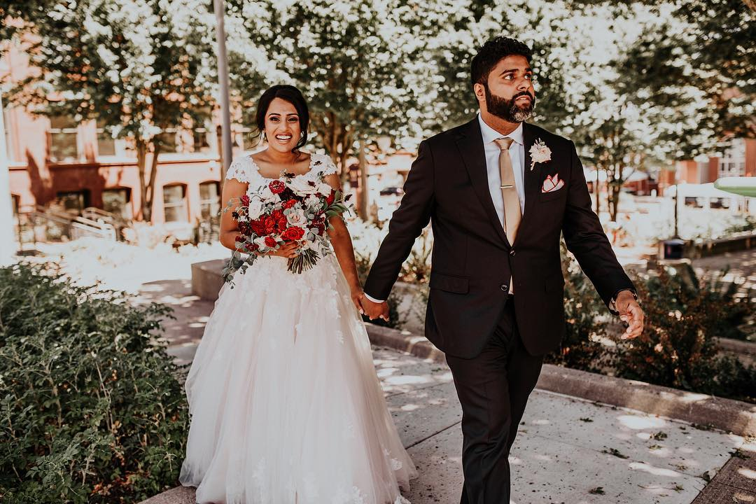 Charles Samuel and Rachel Varkey photo after wedding
