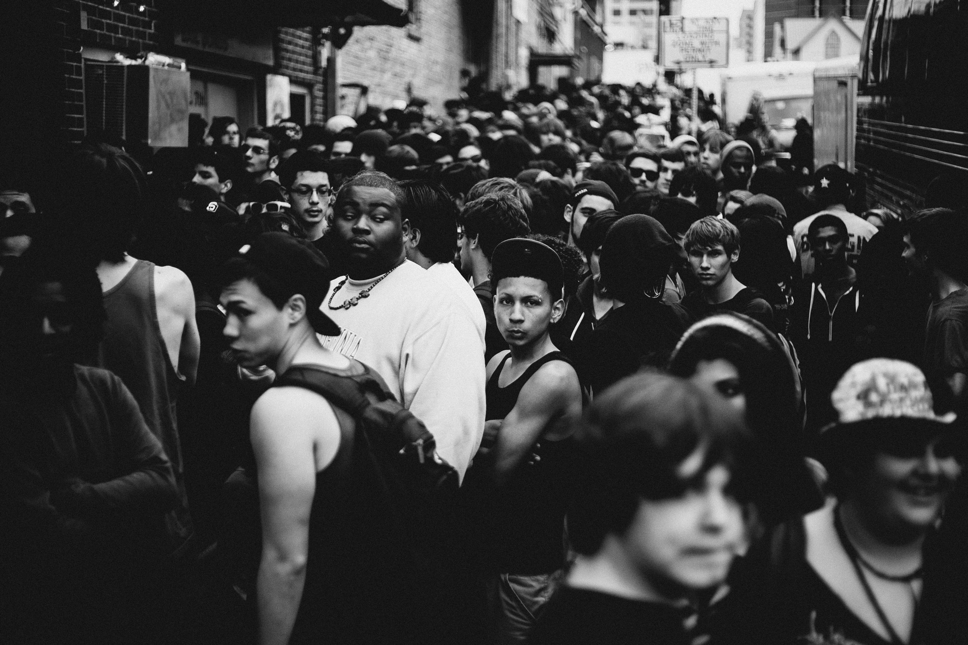 people of color in crowd