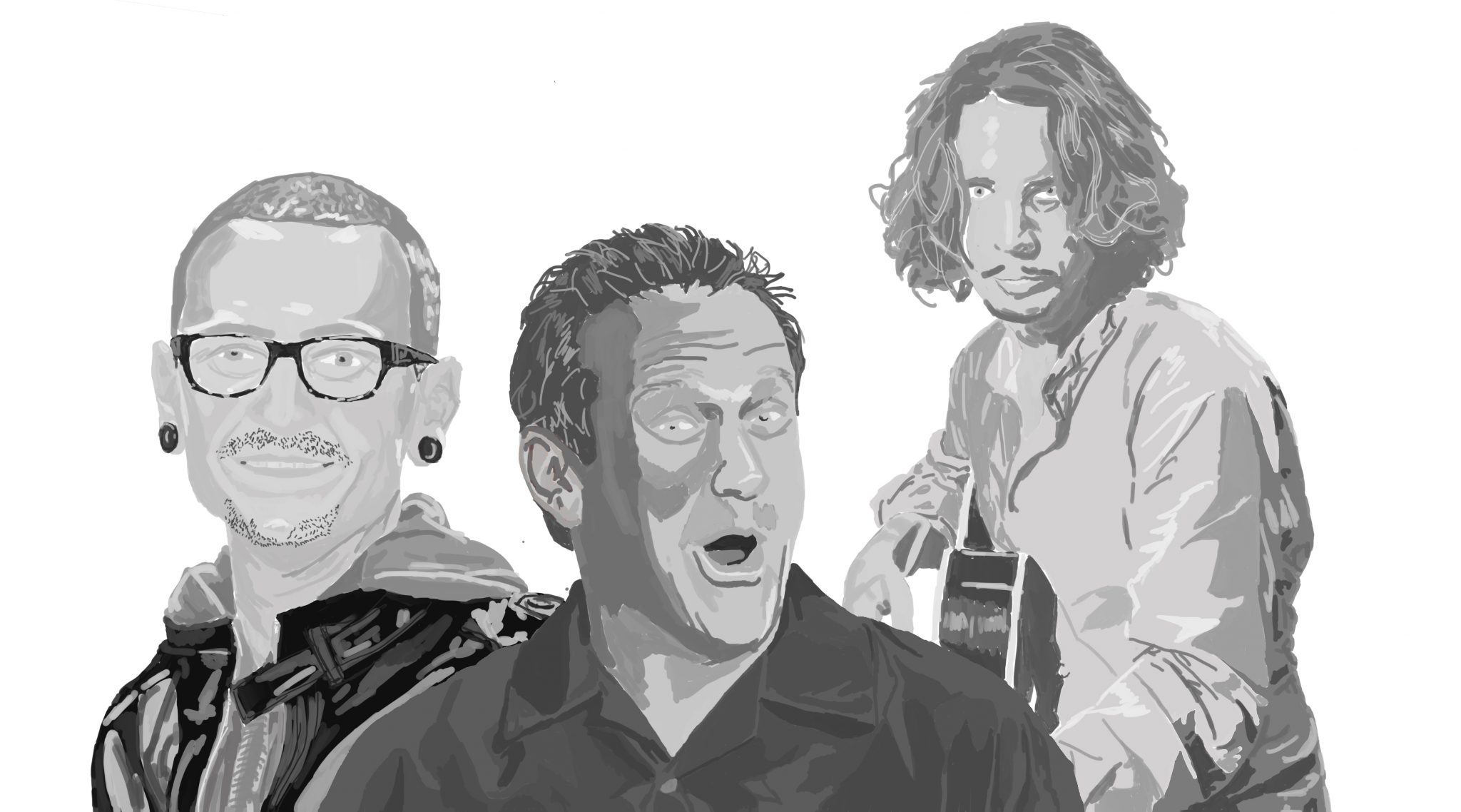 robin williams chester bennington chris cornell artwork