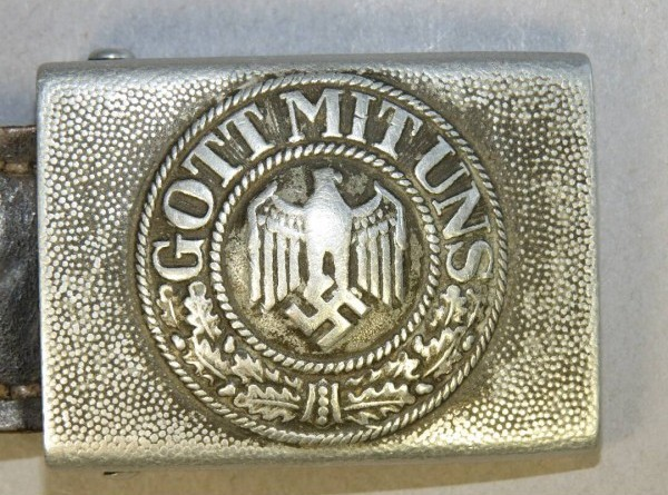 nazi belt buckle with god is with us written on it