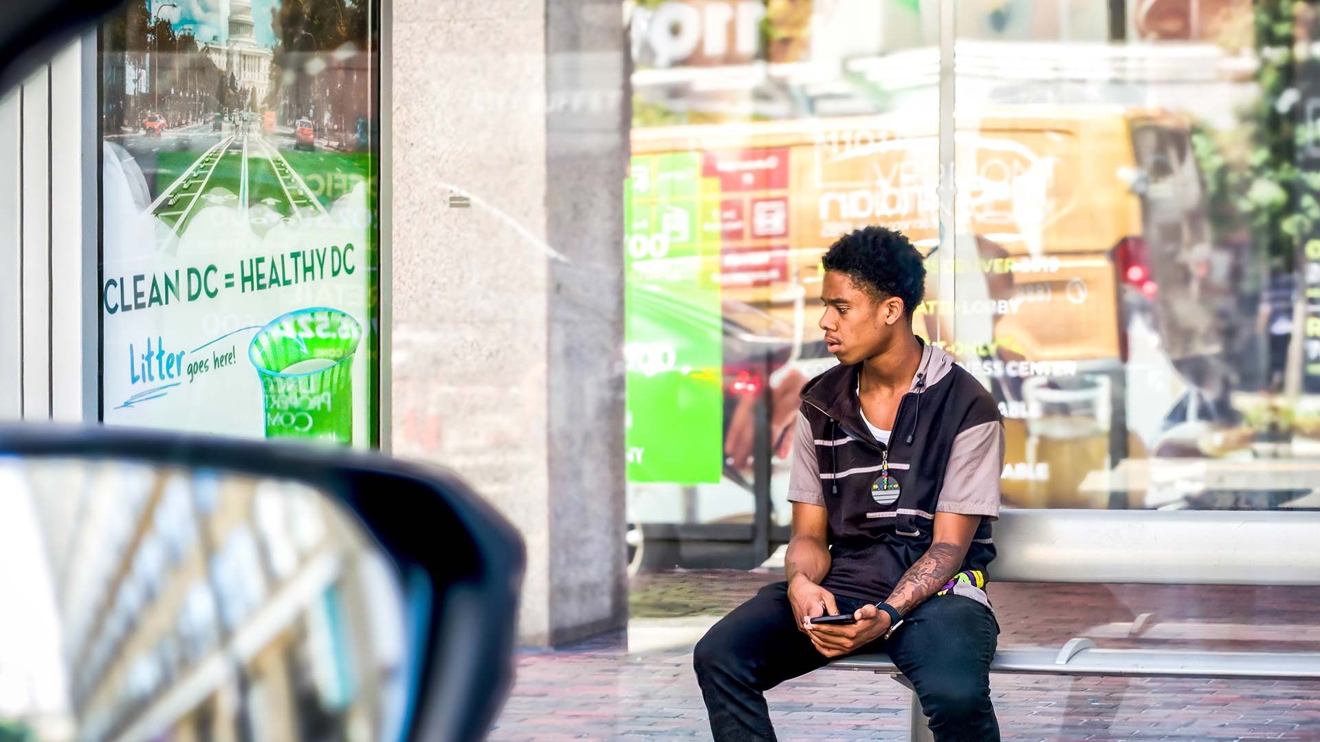 young black man resting while protesting racism